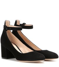Gianvito Rossi Suede Pumps Black