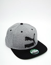 Puma Snapback Cap In Grey 5294208 Grey