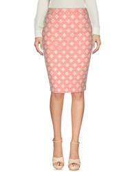 Guess By Marciano Knee Length Skirts Pink