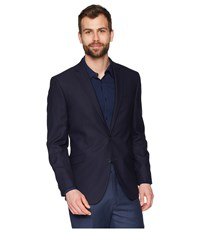 Kenneth Cole Reaction Techni Stretch Suit Separate Coat Navy Shadow Check Jacket Black
