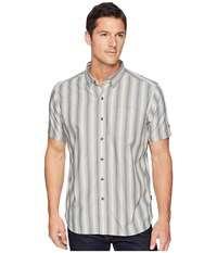 Kuhl The Bohemian Clouded Grey Short Sleeve Button Up Gray