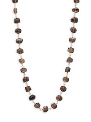 Stephen Dweck Smoky Quartz And Sterling Silver Necklace