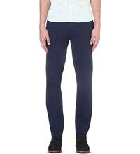 Ted Baker Lofive Stretch Cotton Trousers Dark Blue