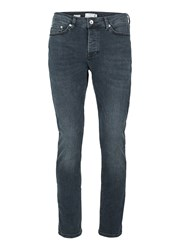 Topman Dark Blue Stretch Tapered Fit Jeans