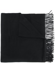 Canada Goose Fringed Scarf Wool Black