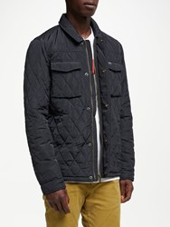Scotch And Soda Classic Quilted Shirt Jacket Night