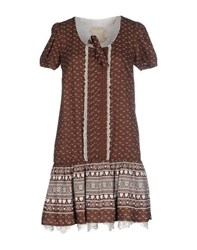 Atelier Fixdesign Dresses Short Dresses Women Cocoa