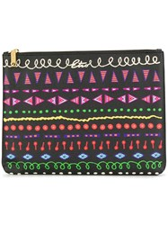 Etro Printed Clutch Bag Black