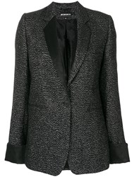 Ann Demeulemeester Buttoned Blazer Nylon Polyester Rayon Virgin Wool Black