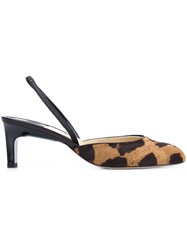 Paul Andrew Animal Print Pumps Brown