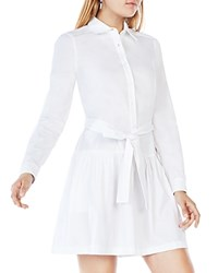 Bcbgmaxazria Mariela Drop Waist Shirt Dress White