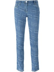 Kenzo 'Ny Stripes' Slim Fit Jeans Blue