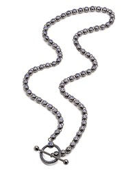 Eddie Borgo Voyager Toggle Necklace 24.5 Gunmetal
