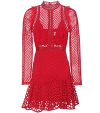 Self Portrait Hall Mini Dress Red