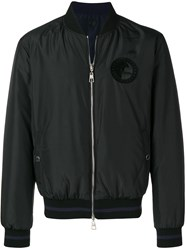 Versace Collection Logo Bomber Jacket Black