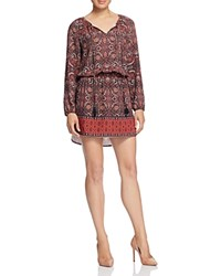 Daniel Rainn Tile Print Tunic Dress Red