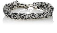 Emanuele Bicocchi Sterling Silver Braided Chain Bracelet Colorless
