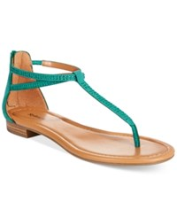 Styleandco. Style And Co. Brinna Embellished Thong Sandals Only At Macy's Women's Shoes Teal Sparkle