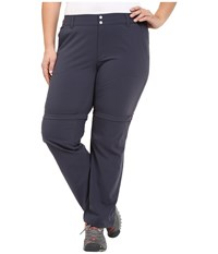 Columbia Plus Size Saturday Trail Ii Convertible Pant India Ink Women's Casual Pants Gray