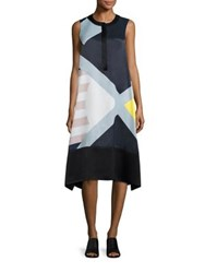 Public School Cyra Graphic Print Shift Dress Multicolor