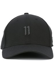 11 By Boris Bidjan Saberi Embroidered Logo Cap Black