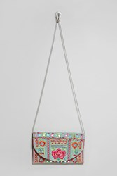 Forever 21 Charade Embroidered Clutch Seafoam Multi