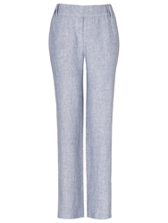 Phase Eight Allie Wide Leg Linen Trousers Denim