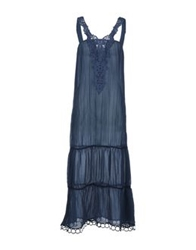 Parah Long Dresses Dark Blue