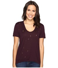 Joe's Jeans Gilles Tee Deep Orchid Women's T Shirt Purple