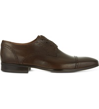 Kurt Geiger Grant Leather Wingcap Shoes Brown