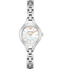 Emporio Armani Ar7425 Stainless Steel And Mother Of Pearl Watch Mother Of Pearl