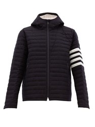 Thom Browne Quilted Wool Twill Jacket Navy