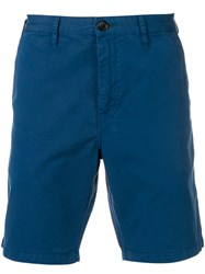 Paul Smith Ps By Straight Leg Shorts Blue