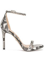 Sam Edelman Ariella Snake Sandals With An Ankle Strap White