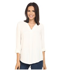 Kensie Soft Rayon Twill Top Ks2k4611 Ivory Women's Clothing White