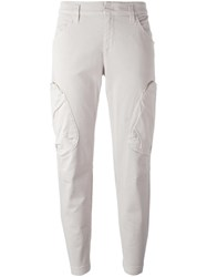 Dorothee Schumacher Multi Pocket Tapered Trousers Grey