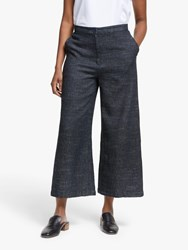 Eileen Fisher Denim Tweed Trousers Indigo