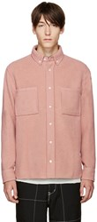 Tim Coppens Pink Wool Worker Shirt