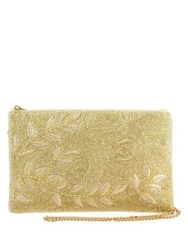 Mary Frances Willow Beaded Crossbody Bag Champagne