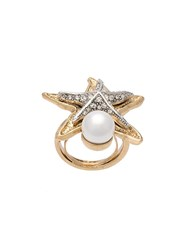 Oscar De La Renta 'Pave Sea Star' Ring Metallic
