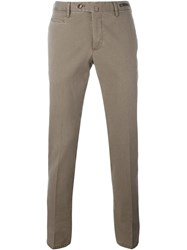 Pt01 Front Pleated Trousers Brown