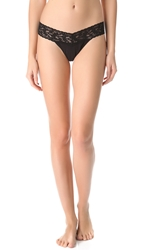 Hanky Panky Cotton With A Conscience Low Rise Thong Black