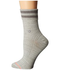 Stance Uncommon Anklet Grey Women's Crew Cut Socks Shoes Gray