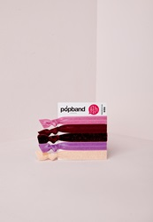 Missguided Winter Berry Popband Pack Pink