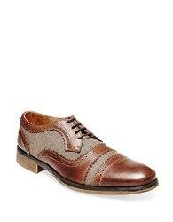 Steve Madden Cammby Leather Oxfords Beige