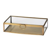 Broste Copenhagen Janni Trinket Box Brass Glass Small