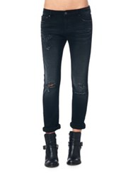 Cult Of Individuality Freedom Slouchy Distressed Jeans Vintage Black