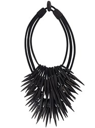 Monies Long Pointy Necklace Black
