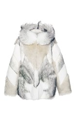 Yves Salomon Paris Mink And Lamb Coat With Fox Collar Multi