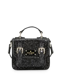 Scout Girls' Metallic Patent Leather Crossbody Bag Black Women's Kate Spade New York